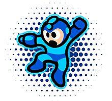 Mega Man Jump! Ultra HQ Modern Print Photographic Print