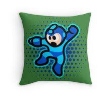 Mega Man Jump! Ultra HQ Modern Print Throw Pillow
