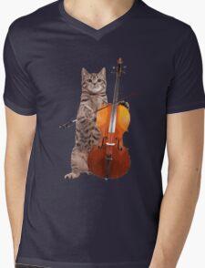 Cello Cat - Meowsicians Mens V-Neck T-Shirt