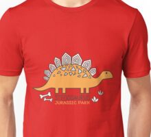 Dinosaurs, Jurassic Park. Adorable seamless pattern with funny dinosaurs in cartoon Unisex T-Shirt