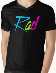 1980's Rad Mens V-Neck T-Shirt