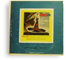 "Brahms 10"" lp record Canvas Print"