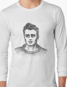 James Dean Inspired Art Long Sleeve T-Shirt