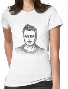 James Dean Inspired Art Womens Fitted T-Shirt