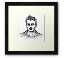 James Dean Inspired Art Framed Print