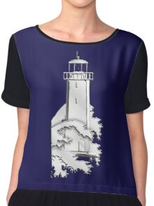 Nautical Chrome Mighty Lighthouse Chiffon Top
