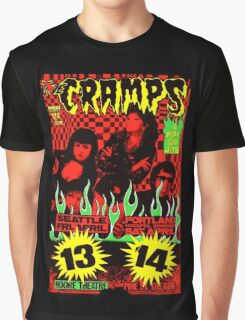 The Cramps (Seattle & Portland shows) Colour 2 Graphic T-Shirt