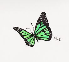 Green Butterfly by Kevin Dellinger
