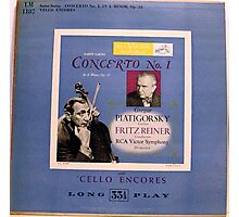 "Cello Encores 10"" lp record Photographic Print"