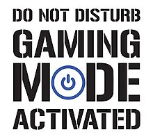 Gaming Mode Activated Photographic Print