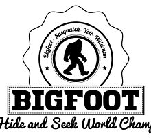 Bigfoot Hide And Seek World Champ by kwg2200