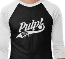 PULP! Baseball Swoosh White Men's Baseball ¾ T-Shirt