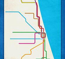 Minimalist CTA Rail Poster by Surpryse