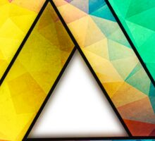 Abstract Multi Color Cubizm Painting Sticker