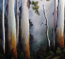 Gumtrees After The Rain by John Cocoris