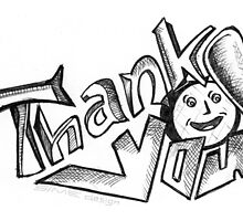 Thank You Card (Typography Design) by Simon04