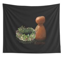 Hawaiian Haku Lei and Ipu Wall Tapestry