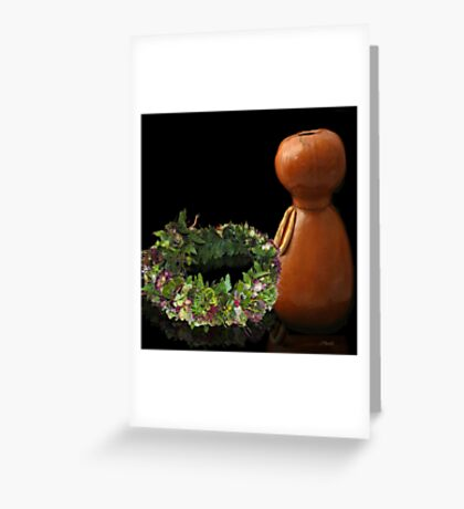 Hawaiian Haku Lei and Ipu Greeting Card
