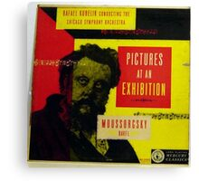 """Pictures At An Exhibition, Moussorgsky 10"""" lp record Canvas Print"""