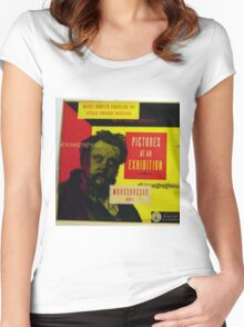 """Pictures At An Exhibition, Moussorgsky 10"""" lp record Women's Fitted Scoop T-Shirt"""