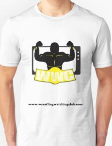 Wrestling Watching Club Clean Logo with Website Unisex T-Shirt