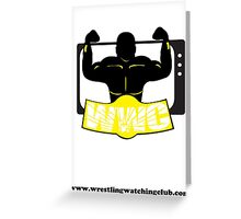 Wrestling Watching Club Clean Logo with Website Greeting Card