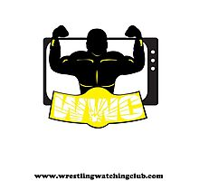 Wrestling Watching Club Clean Logo with Website Photographic Print