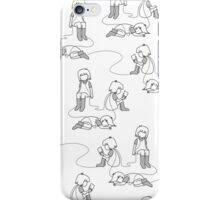 wired grayscale iPhone Case/Skin