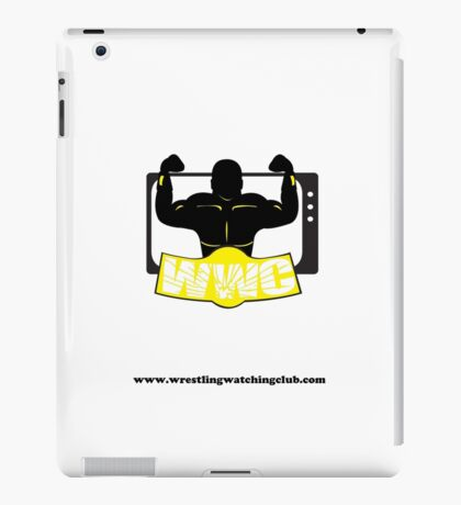 Wrestling Watching Club Clean Logo with Website iPad Case/Skin