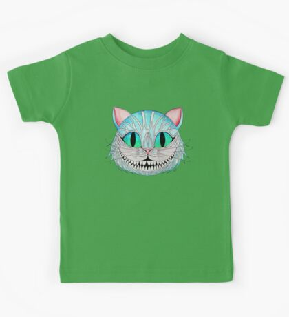 Cheshire Cat (Dark background) Kids Tee