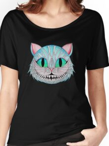 Cheshire Cat (Dark background) Women's Relaxed Fit T-Shirt
