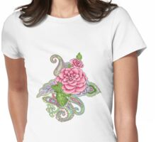 floral tattoo Womens Fitted T-Shirt