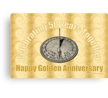 Celebrating 50 Years Together Canvas Print