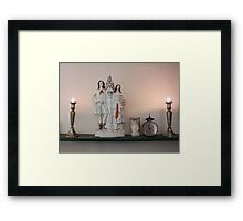 Still Life with Candles & Clock Framed Print
