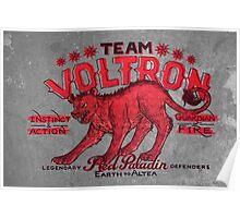 Red Paladin Vintage Shirt Poster