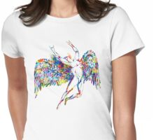 ICARUS THROWS THE HORNS - paint splotches NEW DESIGN Womens Fitted T-Shirt