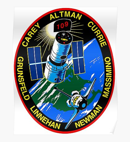 STS-109 (SM3B) 4th Hubble Servicing Mission Patch Poster