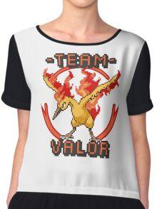 Team Valor pokemon go Pixelart Chiffon Top