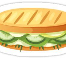 Food Truck Veggie Panini Sticker