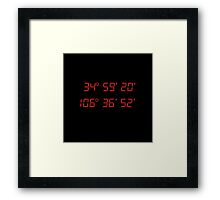 Breaking Bad - Blood Money - GPS coordinates Framed Print