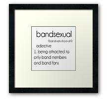 bands Framed Print