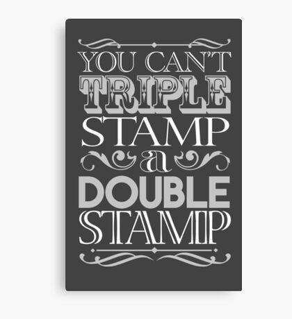 Triple Stamp Dark Canvas Print
