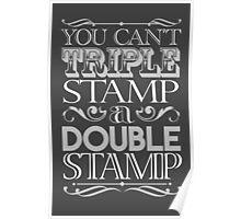 Triple Stamp Dark Poster