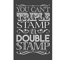 Triple Stamp Dark Photographic Print