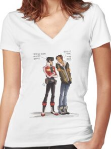Drunk Lance for all of us! Women's Fitted V-Neck T-Shirt