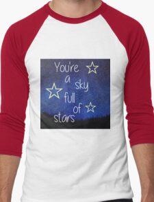 coldplay lyrics Men's Baseball ¾ T-Shirt