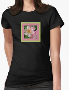 Ruffled Rhododendron Blossoms Womens Fitted T-Shirt