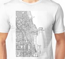 Chicago City center black and white Unisex T-Shirt