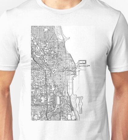 Chicago City center black and white Unisex T-Shirt