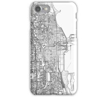 Chicago City center black and white iPhone Case/Skin